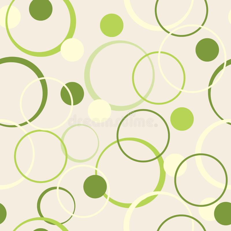 Geometric abstract seamless pattern of circles, modern background for web design royalty free illustration