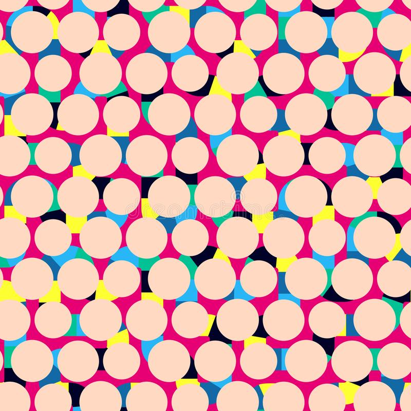 Geometric abstract seamless pattern. Linear motif background. Vi royalty free illustration