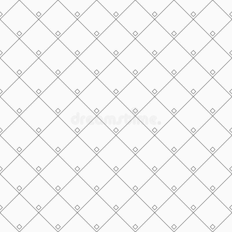 Geometric abstract seamless pattern with rhombuses, squares. stock illustration