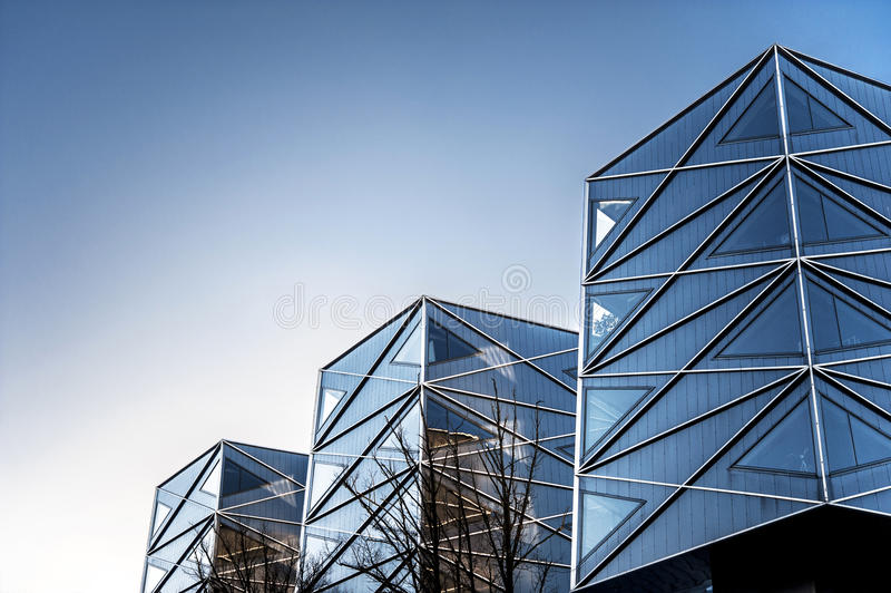 Geometric angles of modern buildings. Outdoors. stock image