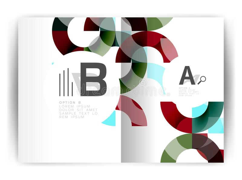 Geometric a4 annual report cover print template. Brochure template layout, cover design annual report, magazine, flyer or booklet in A4. Business vector royalty free illustration