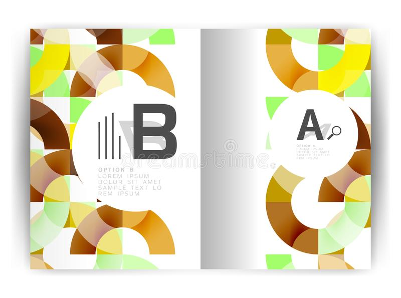 Geometric a4 annual report cover print template. Brochure template layout, cover design annual report, magazine, flyer or booklet in A4. Business vector vector illustration