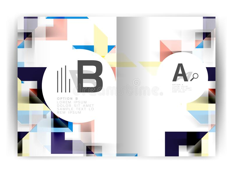 Geometric a4 annual report cover print template. Brochure template layout, cover design annual report, magazine, flyer or booklet in A4. Business vector stock illustration