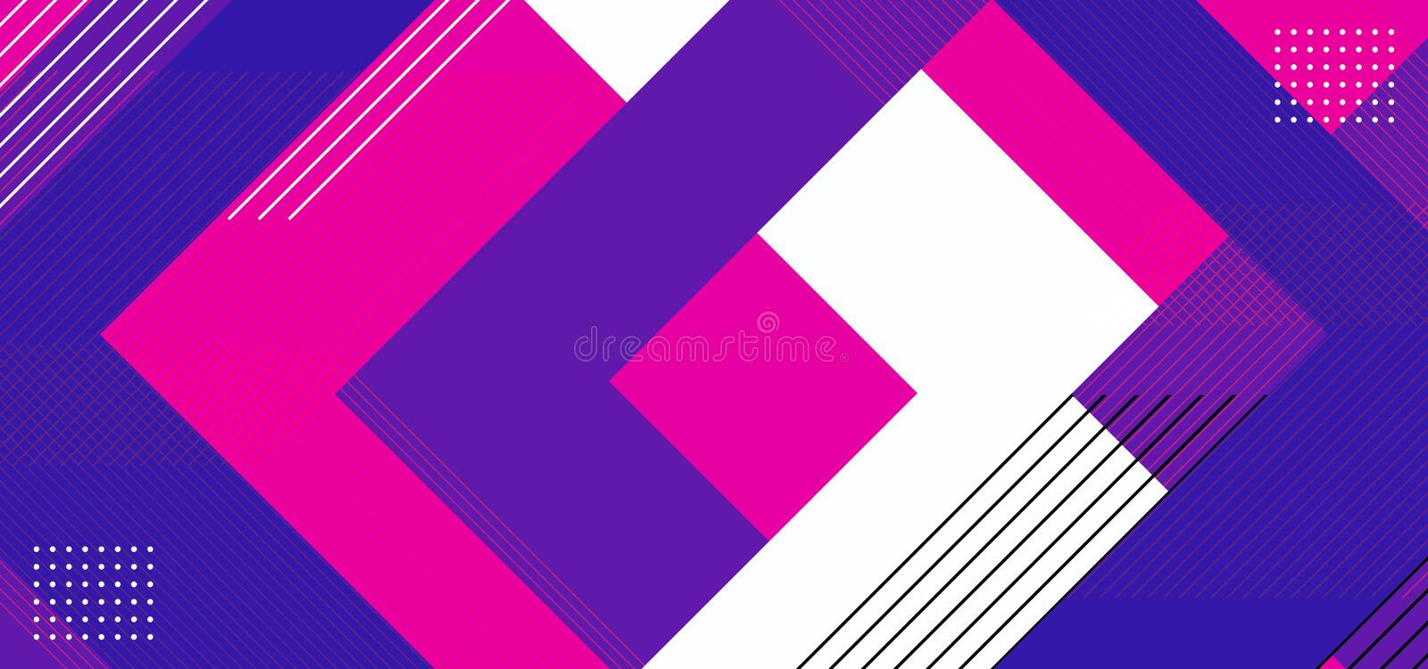 Geometric background abstract with triangle composition design. Purple, pink, blue, and white colorful vector illustration vector illustration