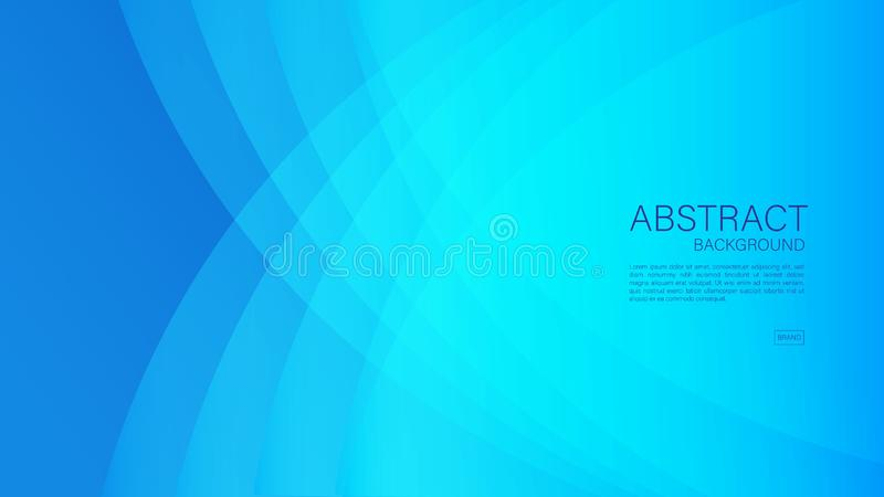 Blue abstract background, wave, Geometric vector, graphic, Minimal Texture, cover design, flyer template, banner, web page, book stock illustration