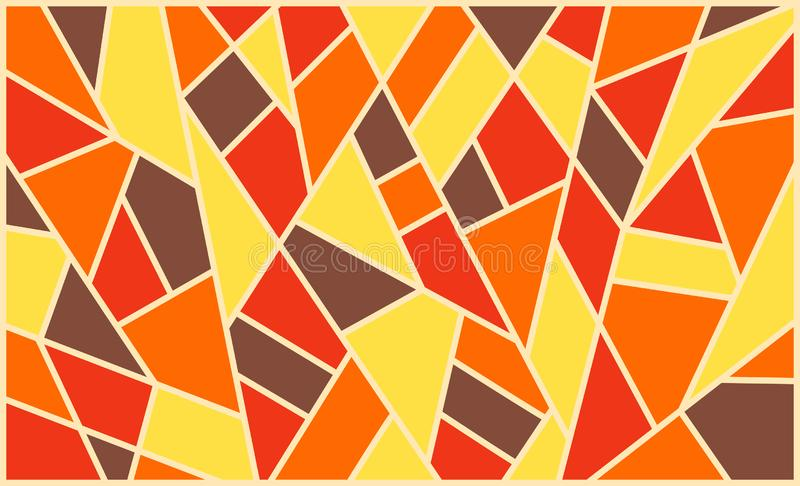 Geometric background, bright colored shapes, mosaic for creating stock image