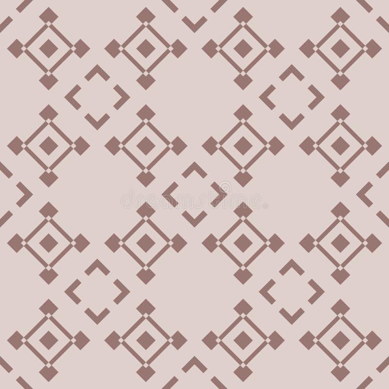 Geometric background. Brown seamless wallpaper royalty free illustration