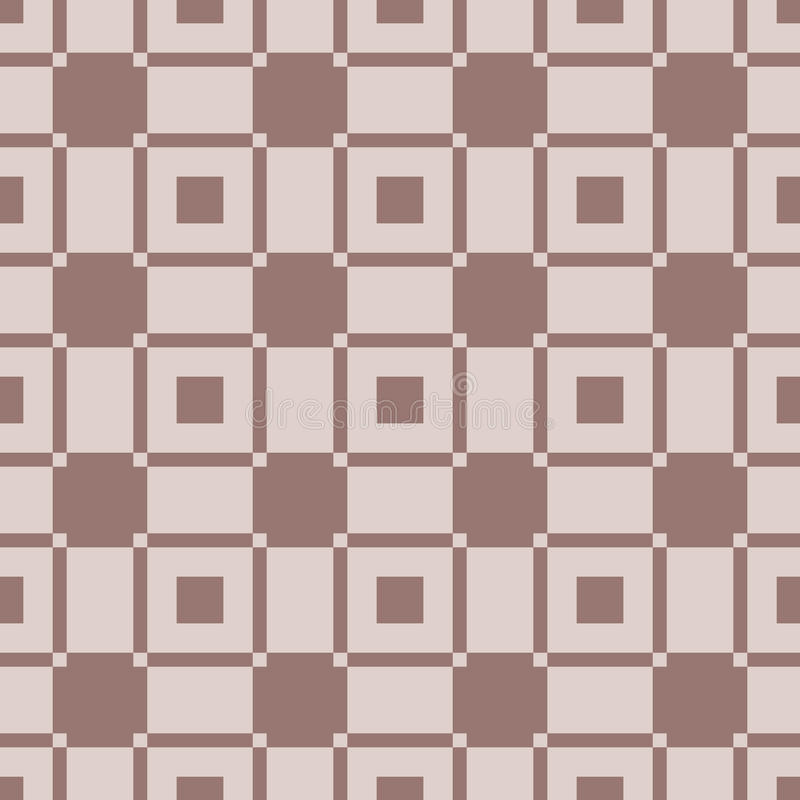 Geometric background. Brown seamless wallpaper stock illustration