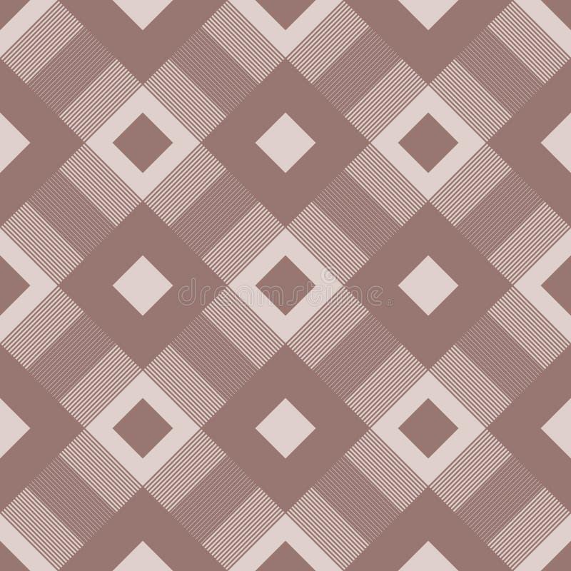 Geometric background. Brown seamless wallpaper vector illustration