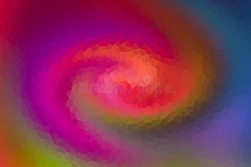 Geometric background colorful rhombic ice mauve swirling motion lilac pink peachy tone stock illustration