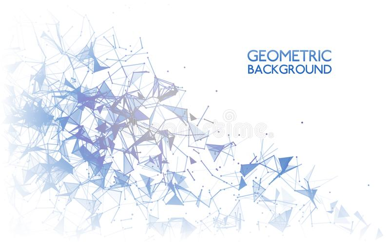 Geometric background concept. Abstract connections on white. Modern technology design. Communication backdrop. Vector vector illustration