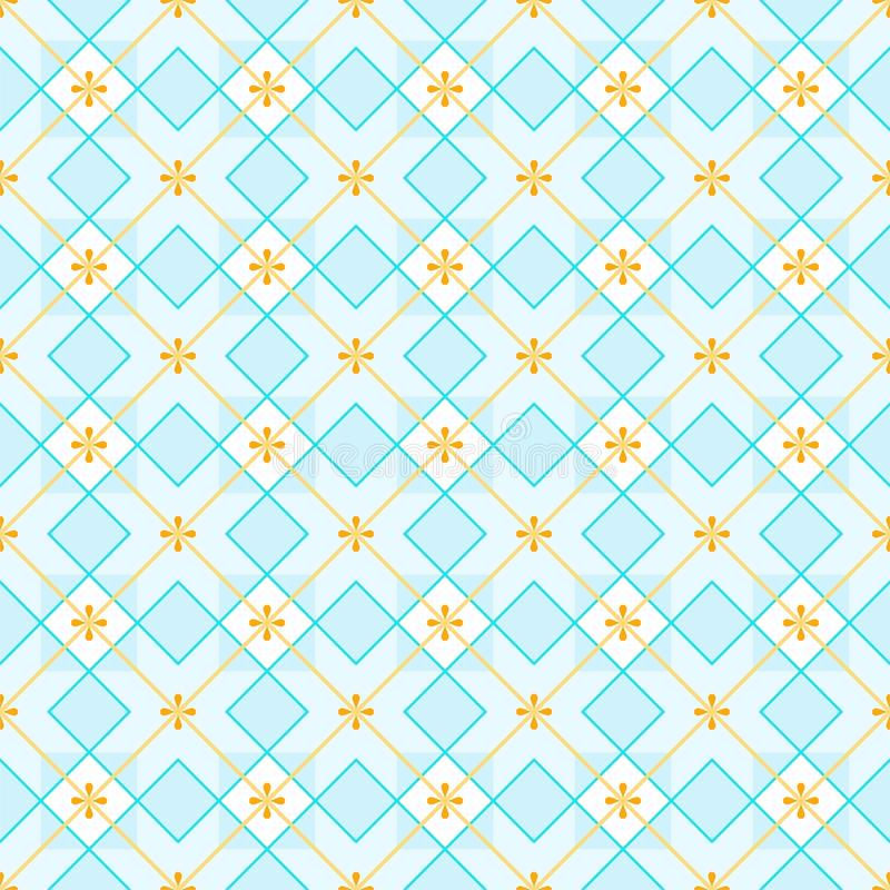 Geometric background made of squares, seamless, blue. royalty free illustration