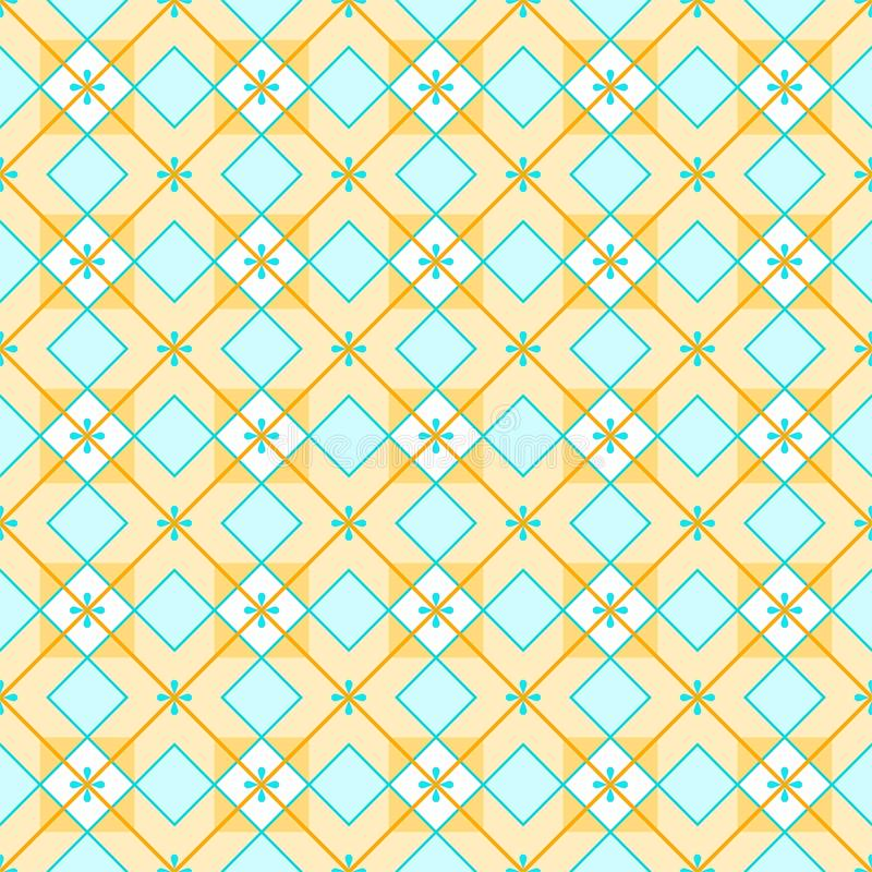 Geometric background made of squares, seamless, yellow. royalty free illustration