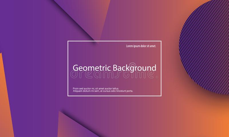 Geometric background. Minimal abstract cover design. Creative colorful wallpaper. Trendy gradient poster. Vector illustration. stock illustration