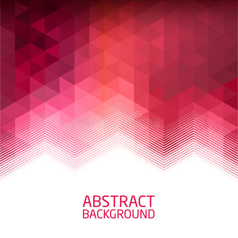 Geometric background in red tones royalty free stock image