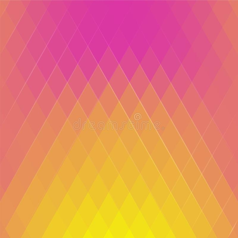 Abstract colored illustration of the triangles. Geometric mosaic background. royalty free illustration