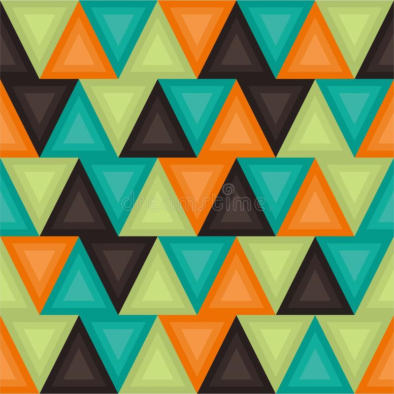 Geometric background in vintage colors. Seamless retro pattern vector illustration