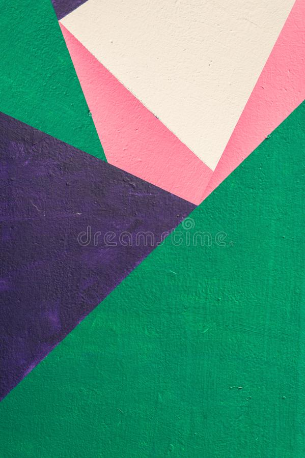 Geometric background of wall with bright tones. pop art style stock photography