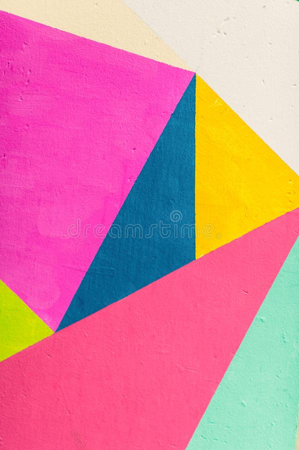 Geometric background of wall with bright tones. pop art style royalty free stock photos