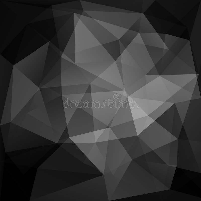 Geometric black background. Mosaic vector pattern royalty free illustration
