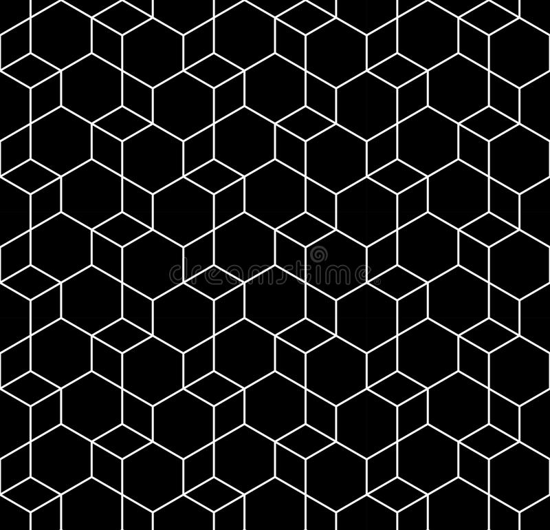 Geometric black and white hipster fashion design print hexagon pattern. Abstract geometric black and white hipster fashion design print hexagon pattern vector illustration