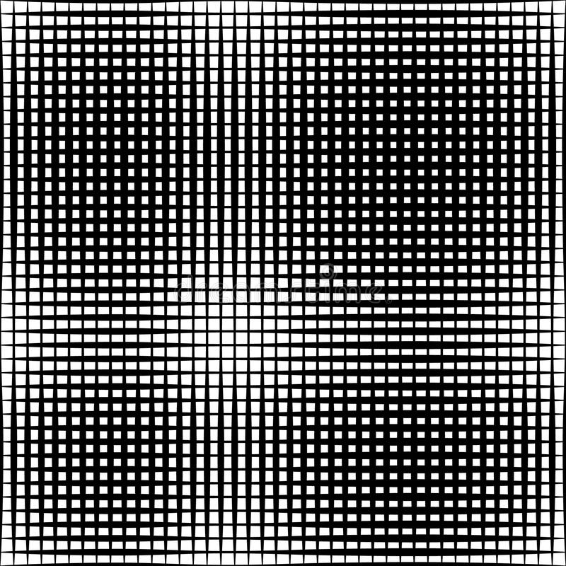 Geometric black and white texture. Mesh, grid pattern of lines. Royalty free illustration stock illustration