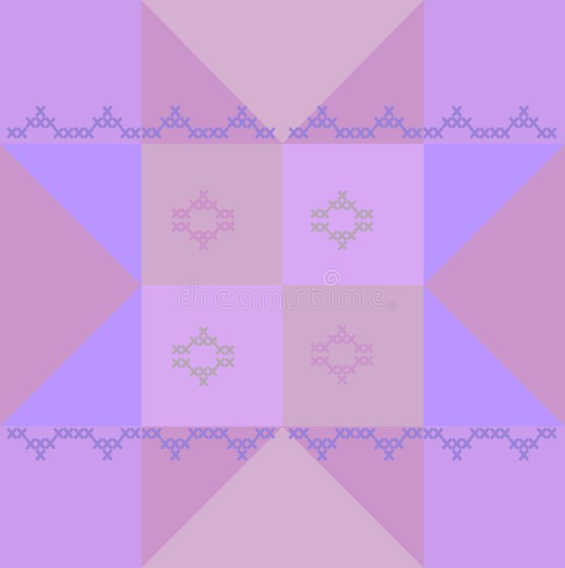 Geometric block pattern for patchwork royalty free stock photos