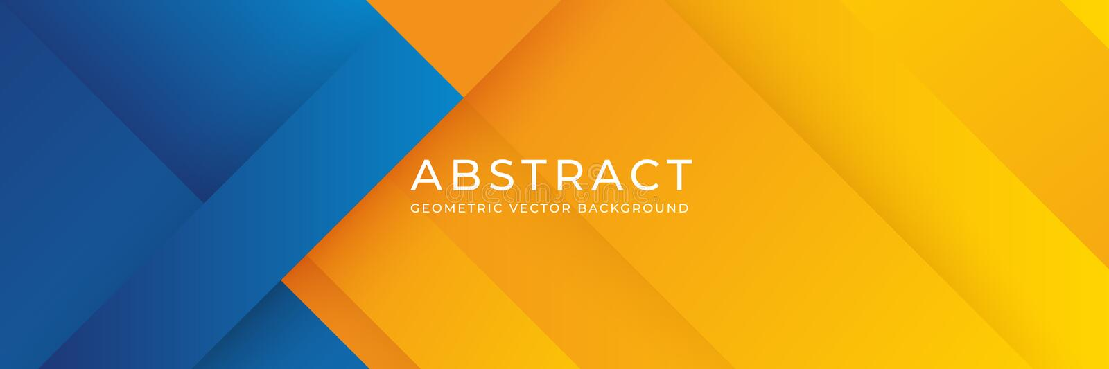 Geometric blue and orange background. Abstract background with blue and orange gradient composition. Eps 10 vector background stock illustration