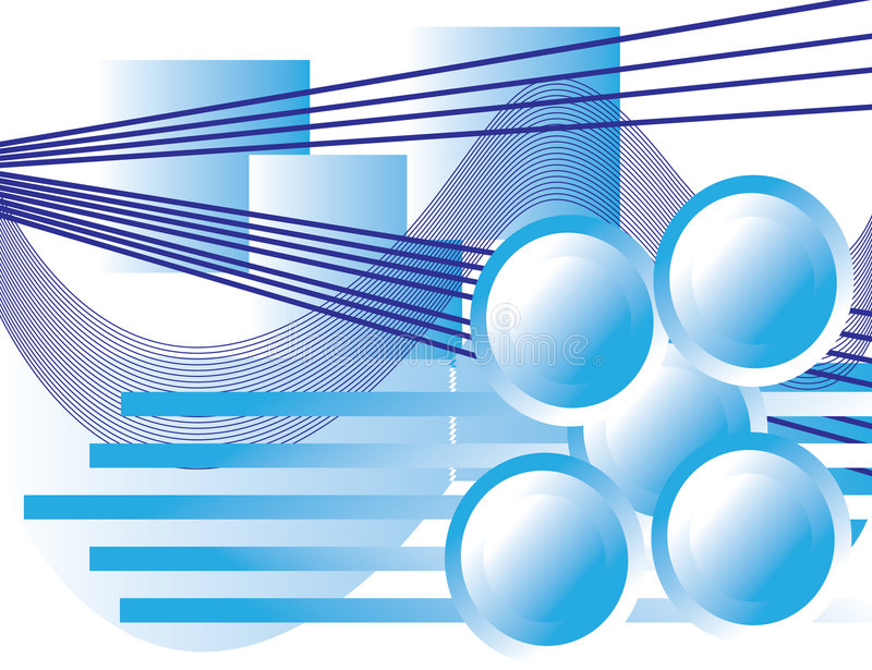 Geometric Blues royalty free illustration