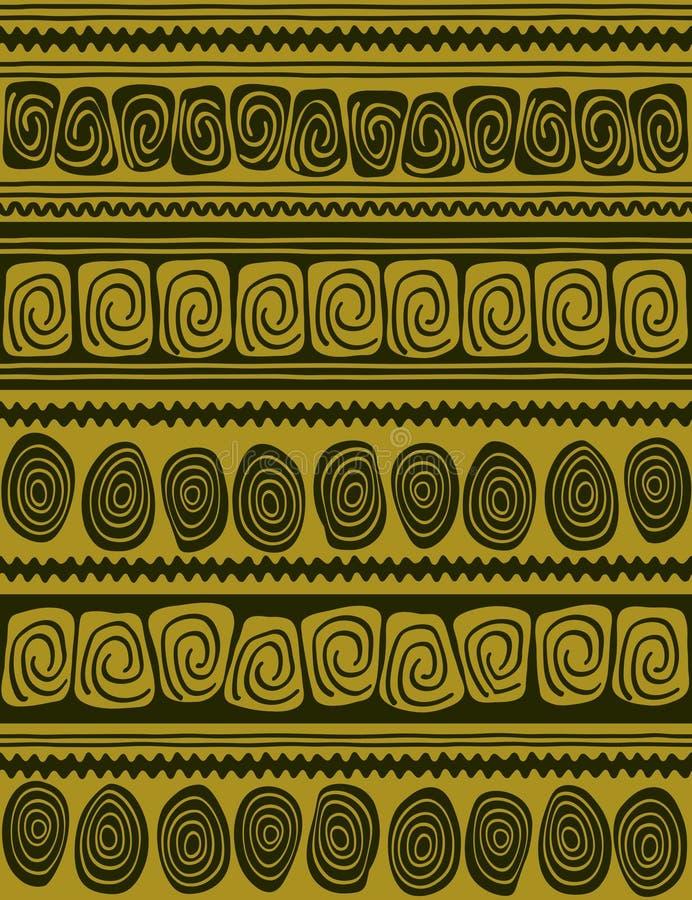Geometric Borders - Seamless Pattern Stock Image