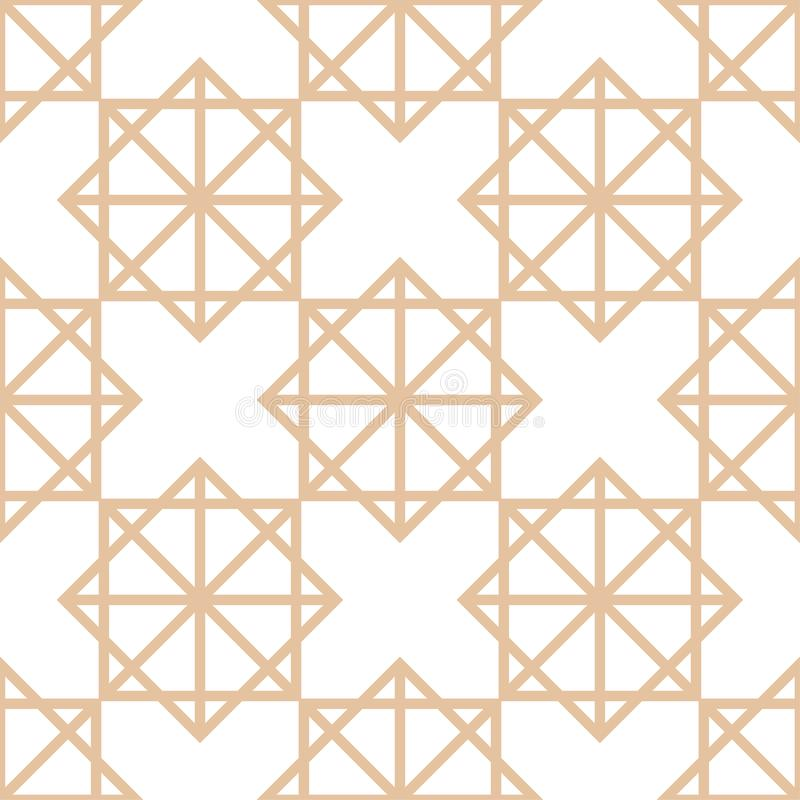 Geometric brown and white seamless pattern for fabrics stock illustration
