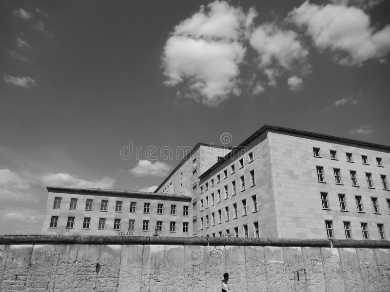 Geometric Buildings in Berlin royalty free stock photography