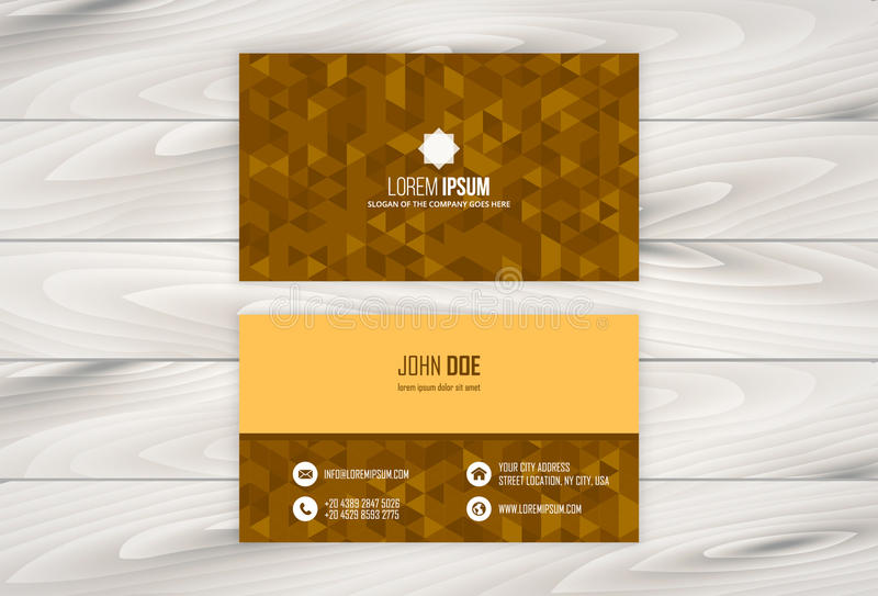 Geometric business card design template with wooden background stock download geometric business card design template with wooden background stock vector illustration of graphic reheart Gallery