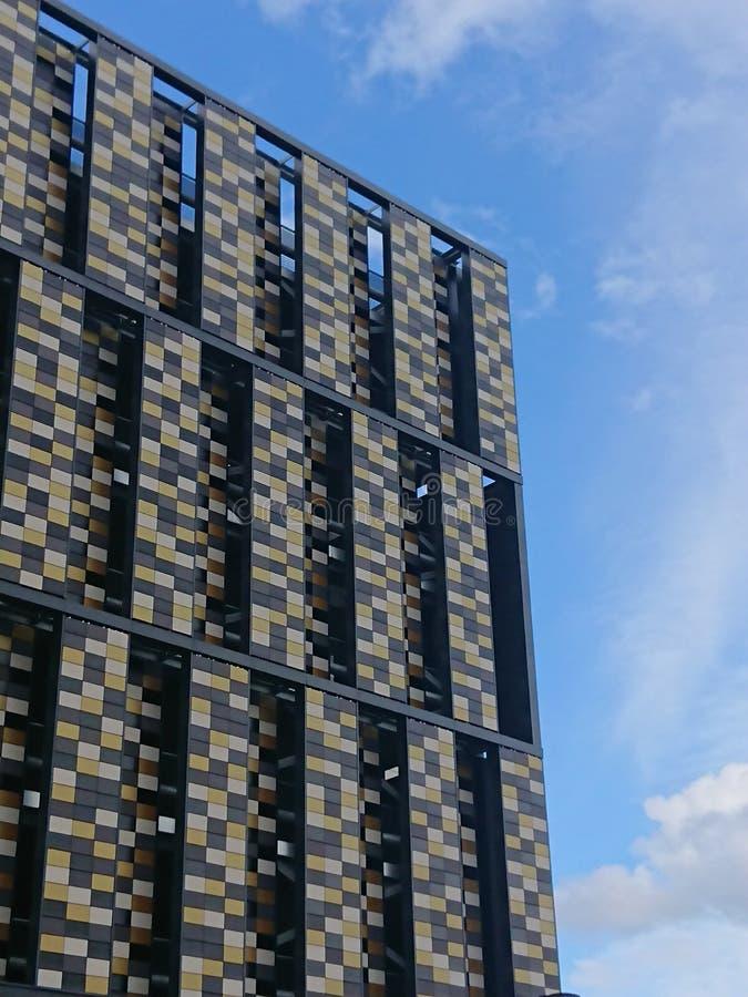 Geometric carpark architecture stock photos