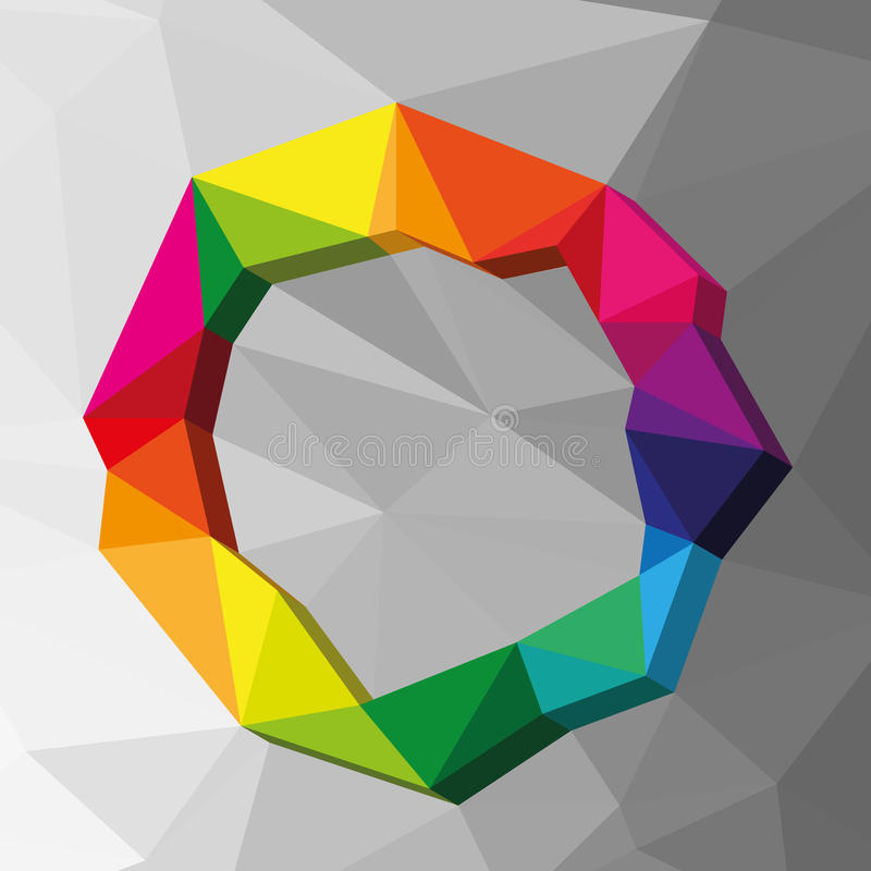 Geometric circle colour background. Illustration vector illustration