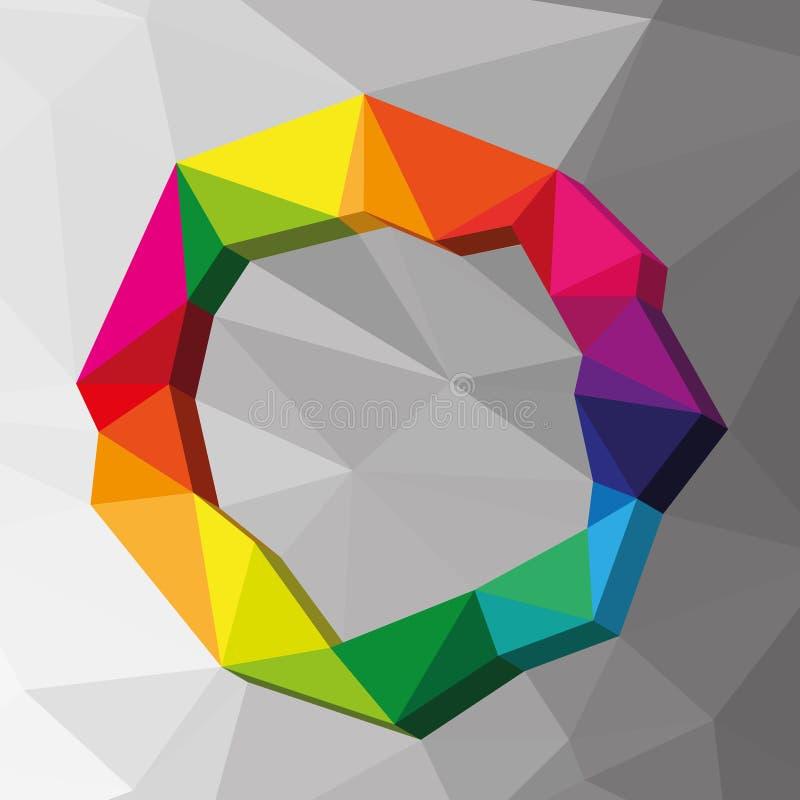 Geometric circle colour background vector illustration