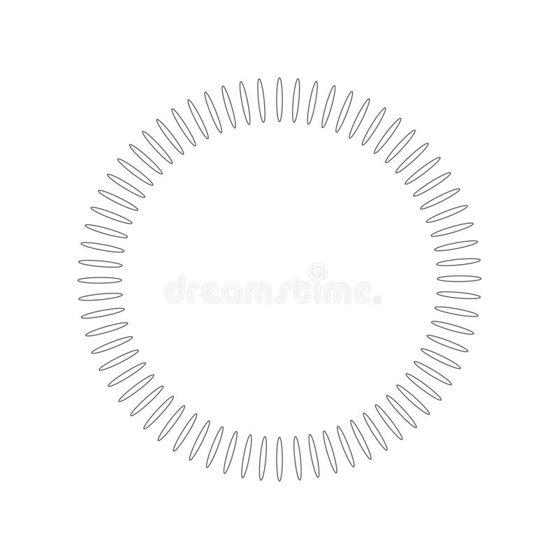 Geometric circle element made of radiating shapes. Abstract circle shape. vector illustration isolated on white background vector illustration