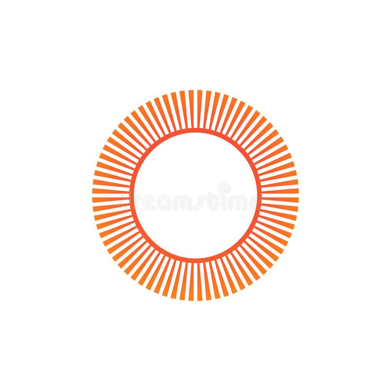 Geometric circle sun element . Abstract circle shape. vector illustration isolated on white background vector illustration