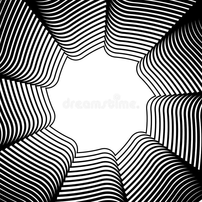Geometric circular element - Rotating spiral, swirl shape. Royalty free vector illustration vector illustration