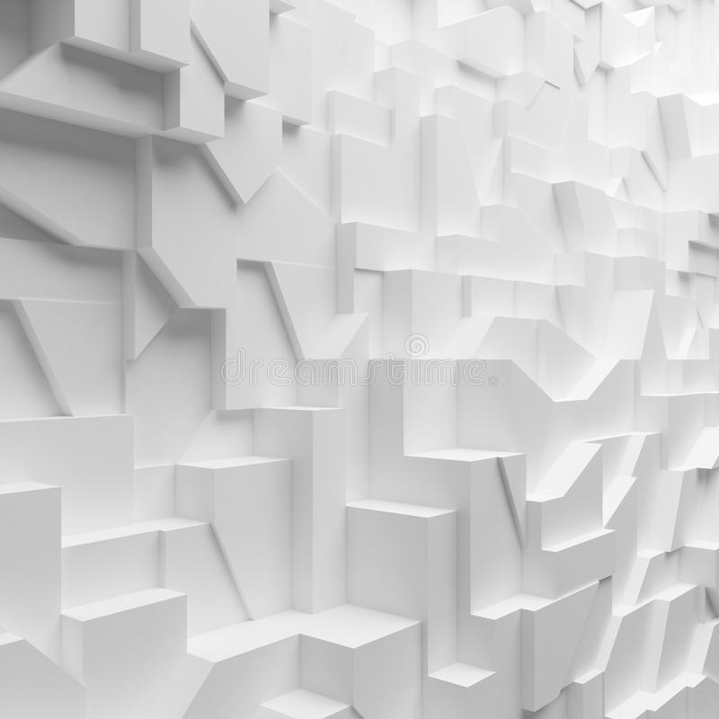 Geometric color abstract polygons, as crack wall royalty free illustration