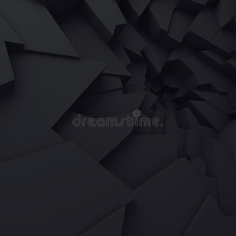 Geometric color abstract polygons, as crack wall. Interior room vector illustration