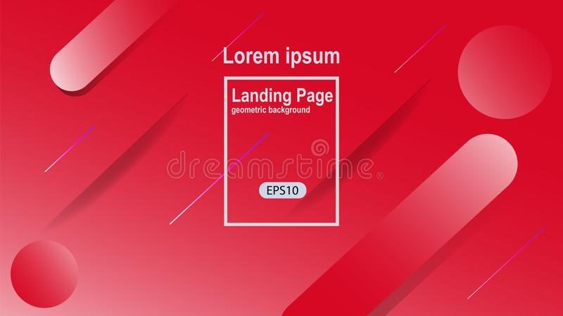 geometric color background vector templates for landing page also suitable for magazine cover vector illustration