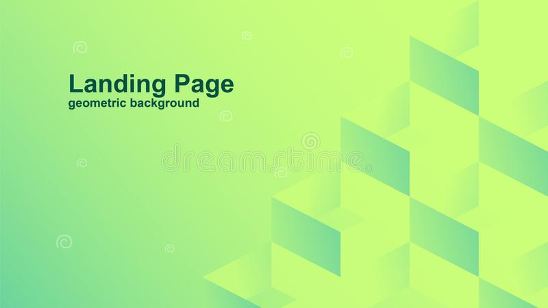 geometric color background vector templates for landing page also suitable for magazine cover stock illustration