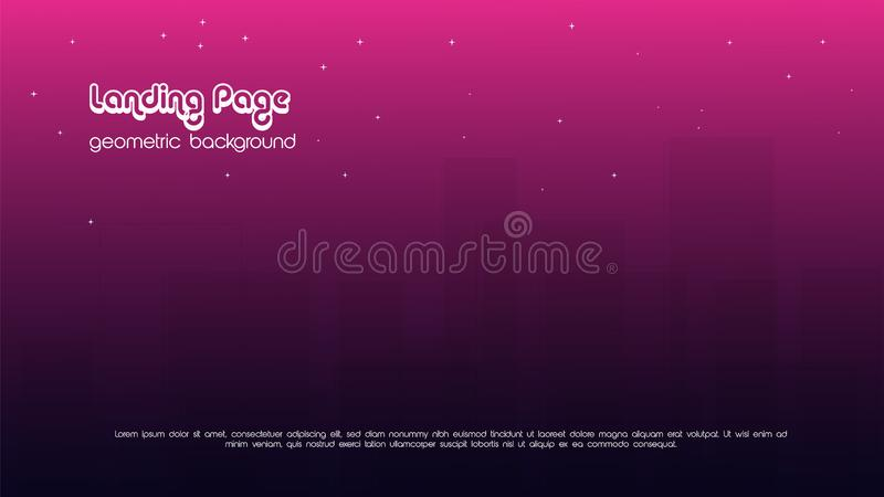 geometric color background vector templates for landing page also suitable for magazine cover royalty free illustration