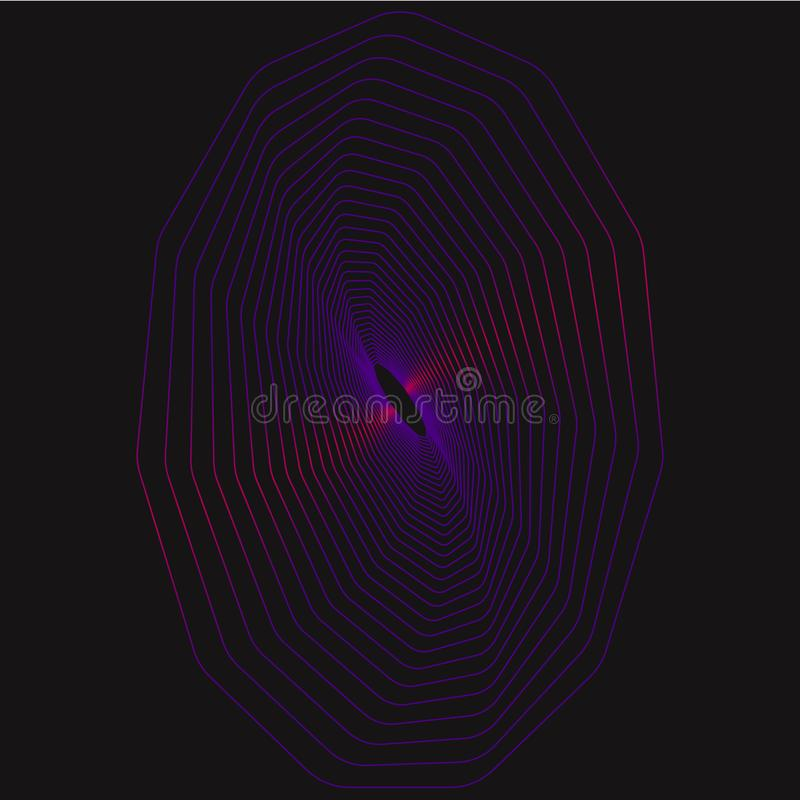 Geometric Color Lines Of Polygon. royalty free stock photo