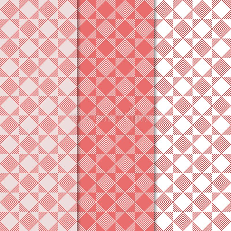 Geometric colored vertical seamless pattern stock illustration