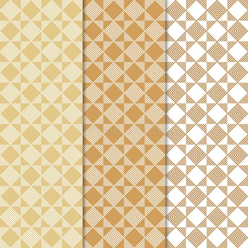 Geometric colored vertical seamless pattern royalty free illustration