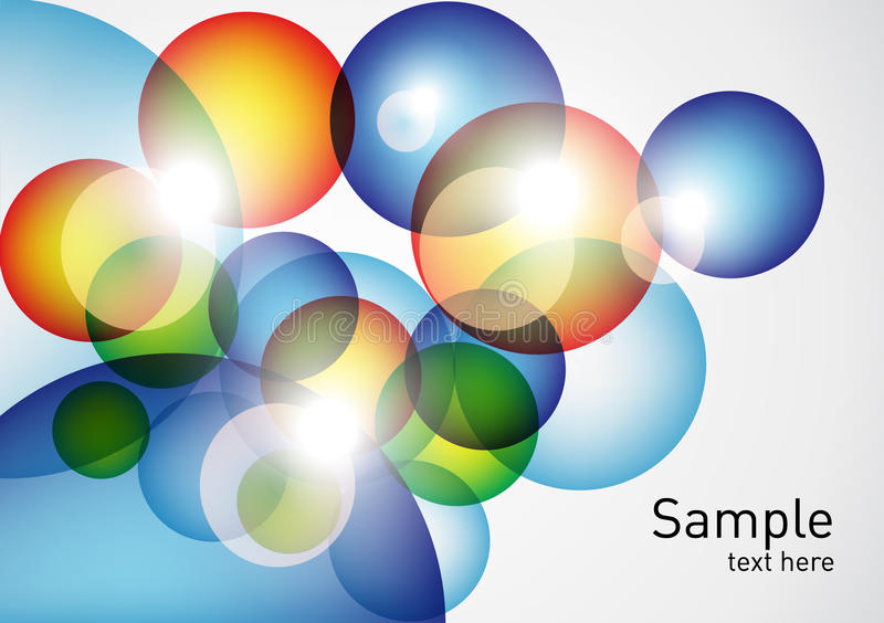 Geometric colorful spheres background royalty free illustration