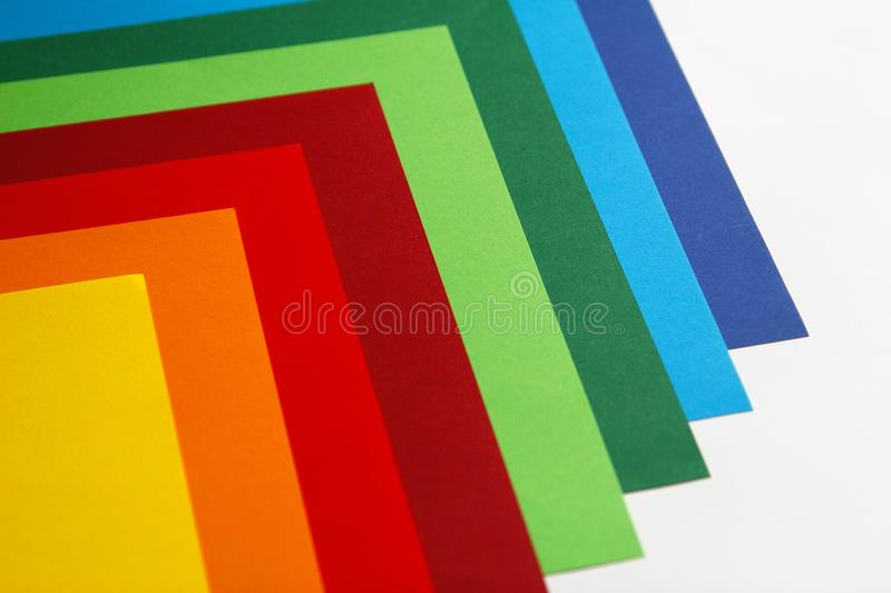 Geometric composition of several bright color sheets of paper. Suitable background for your design, presentation, brochure, web, royalty free stock image
