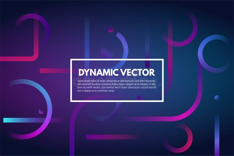 Gradient dynamic line background royalty free illustration